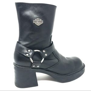 Harley Davidson Women's Motorcycle Boots Leather 7